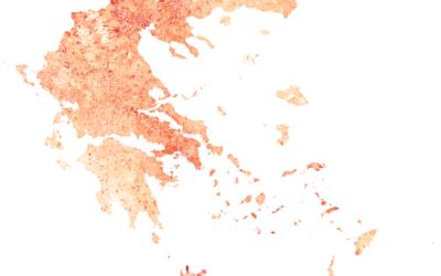 Πόσο ζεστότερη είναι κάθε περιοχή της Ελλάδας σήμερα σε σχέση με τη δεκαετία του ΄60